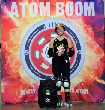 Bricktator of Bay Area Derby Girls - 2014 WFTDA D1 Playoffs Salt Lake City MVP