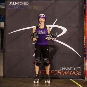 Loren Mutch of Rose City Rollers - 2014 WFTDA D1 Playoffs in Charleston MVP