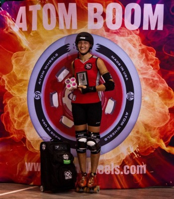 Master Blaster of Bear City Roller Derby - 2014 WFTDA D2 Playoffs Kitchener-Waterloo MVP